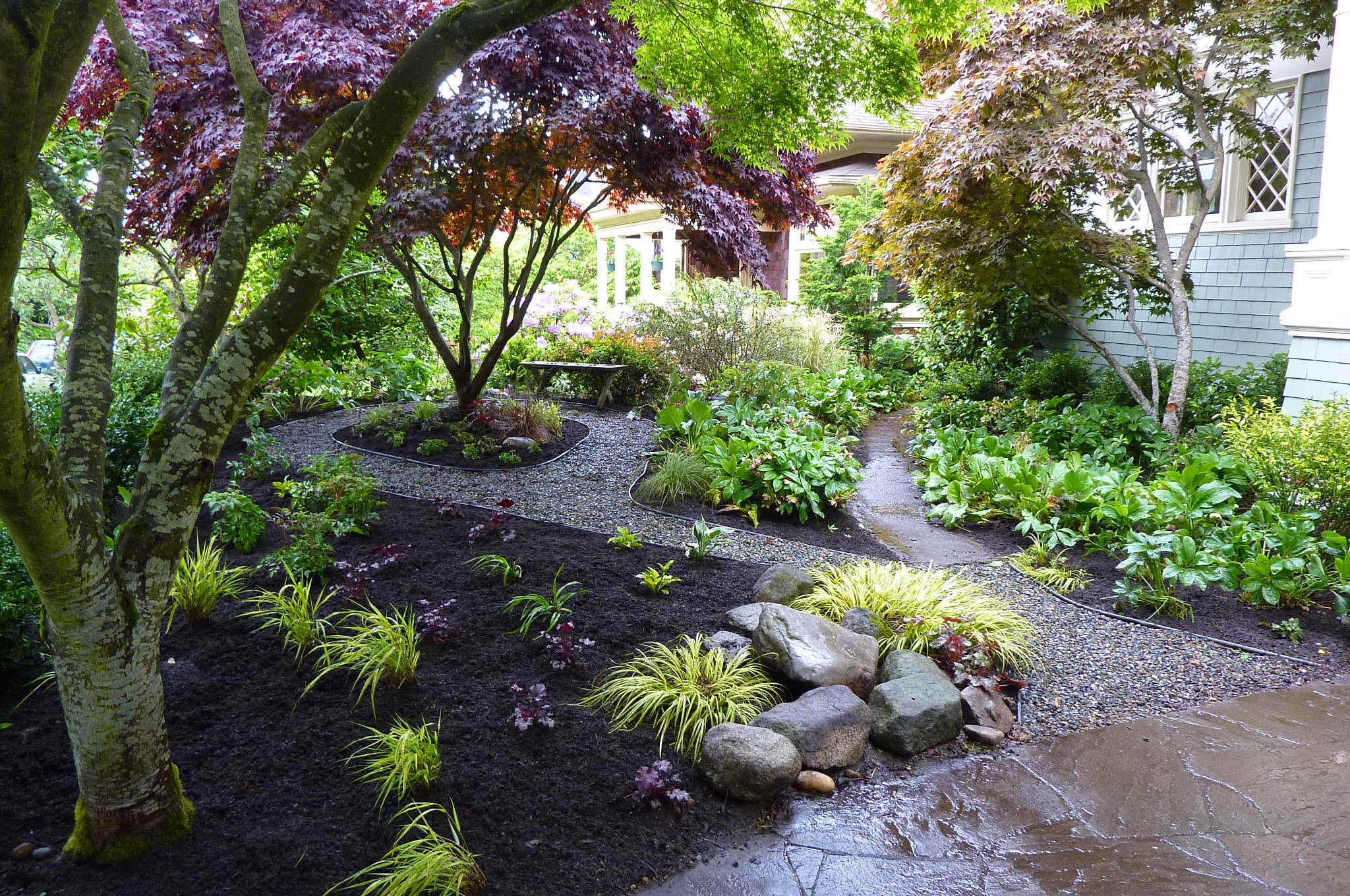Shade garden erin lau design for Landscape garden design ideas