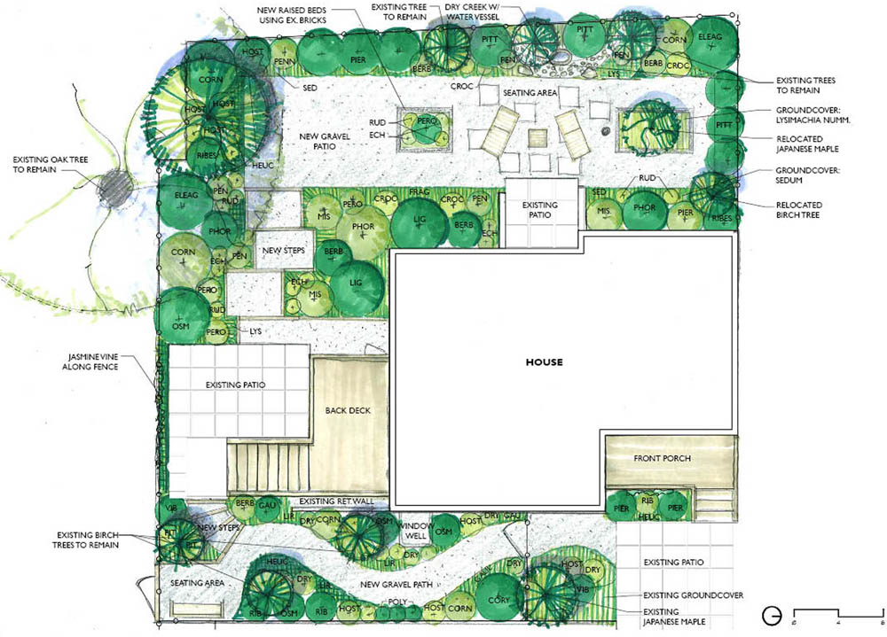 Full design erin lau design for Simple landscape design
