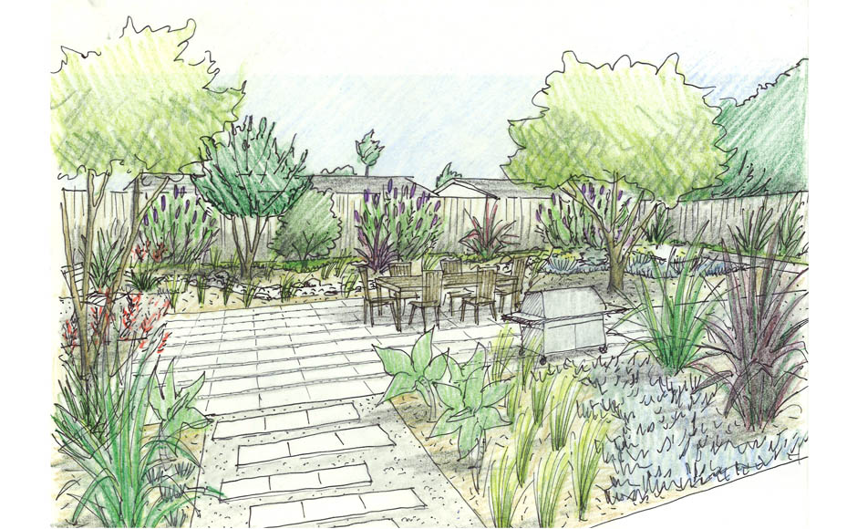 Schematic landscape design drawing get free image about for Garden design sketches